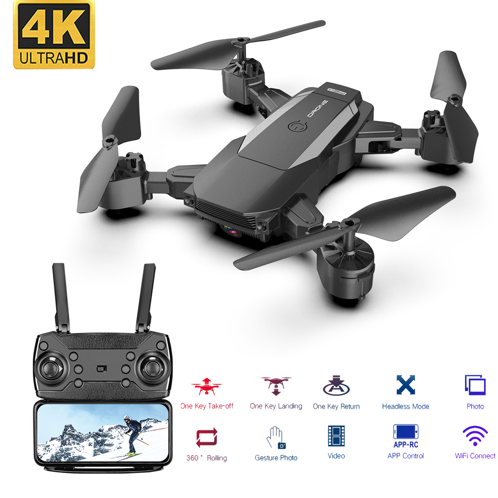RC Drone WiFi FPV Camera 4K HD Altitude Hold Foldable Drone Helicopter One-Key Return RC Quadcopter High Quality Dron Gifts