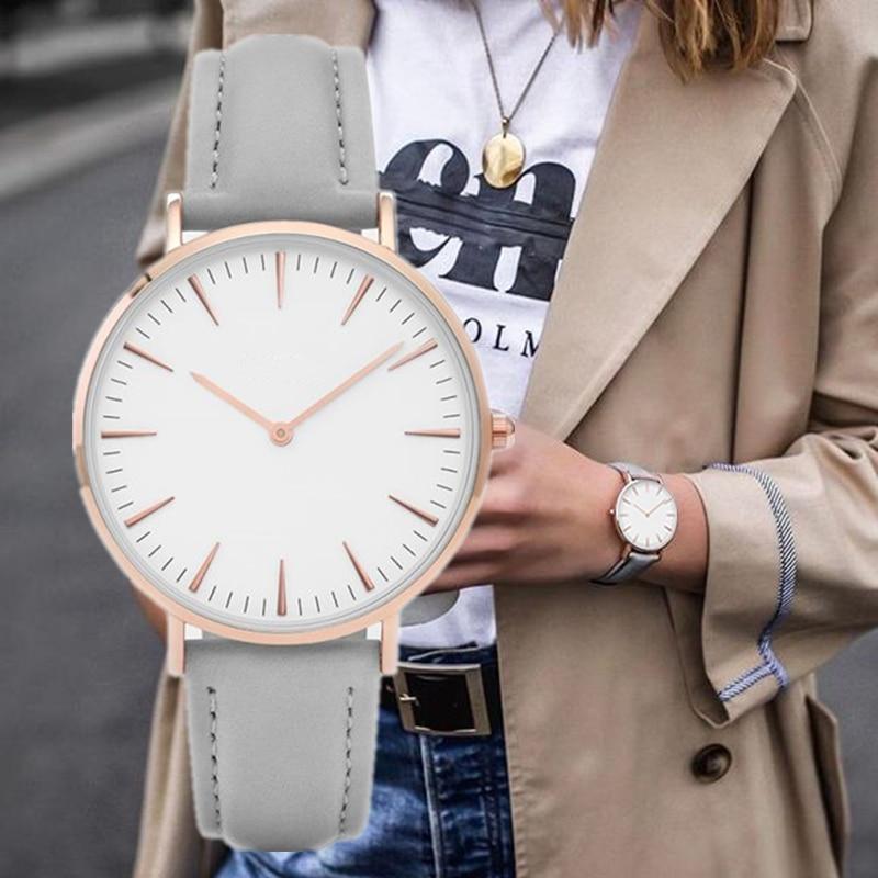 2020 Fashion Simple Leather Ladies Watch Ladies Fashion Casual Wear Quartz Watch Ladies Clock Montre Femme Relojes Mujerwatch