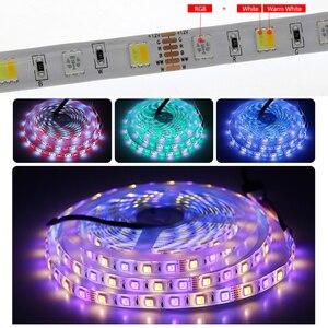 Image 3 - LED Strip RGBCCT Set RGB + Warm White + Cold White 5 Colour LED Strip 5m + 28Key RF Remote Controller + DC12V Power Adapter