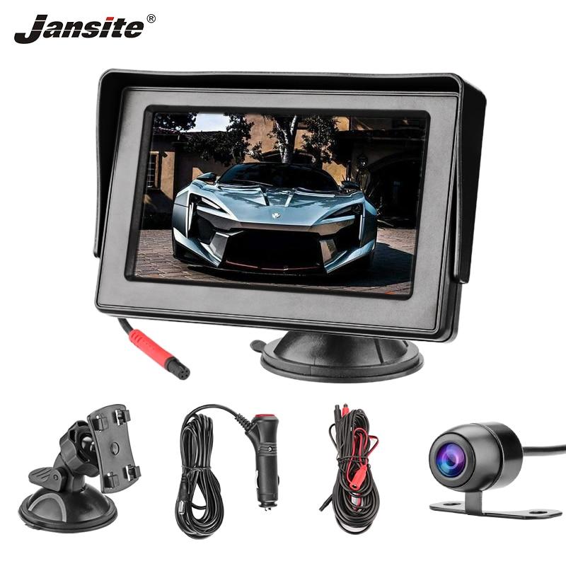 Jansite 4.3 inch Car monitor Rear View Camera Parking System 800*480 Sucker Bracket for Sedan MPV Wagon 12V 360 degree rotation Vehicle Camera     - title=