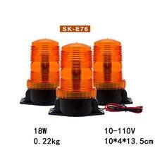 10-110V Warning Beacon Light LED Amber Emergency Signal Light for School Bus 12-36V Safety Strobe Flashing Lamp Indicator Light