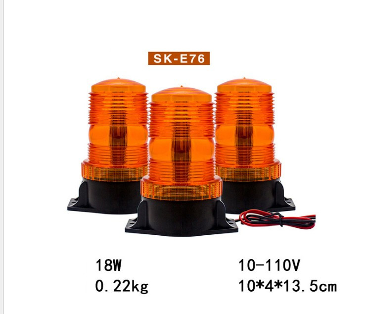 10-110V Warning Beacon Light LED Amber Emergency Signal Light For School Bus 12-36V Safety Strobe Flashing Lamp Indicator Light
