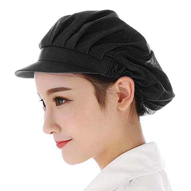 Men Women Chef Hat Restaurants Accessories Dustproof Cooking Cap Breathable Hotel Cook Cap Work Uniform Elastic Kitchen Hat