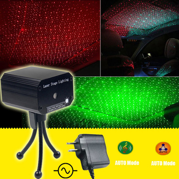 ESHINY MINI Small R&G Laser Full stars Projector DJ Dance Disco Bar Family Party Xmas Effect Stage Effect Light Show Y10 1
