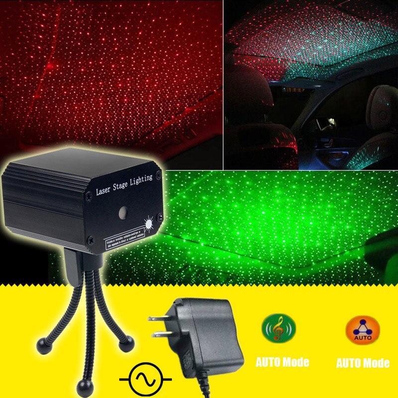 ESHINY MINI Small R & G лазерный проектор с полной звездой DJ танцевальный диско-бар семейные вечерние сценические эффекты сценический светильник Show ...