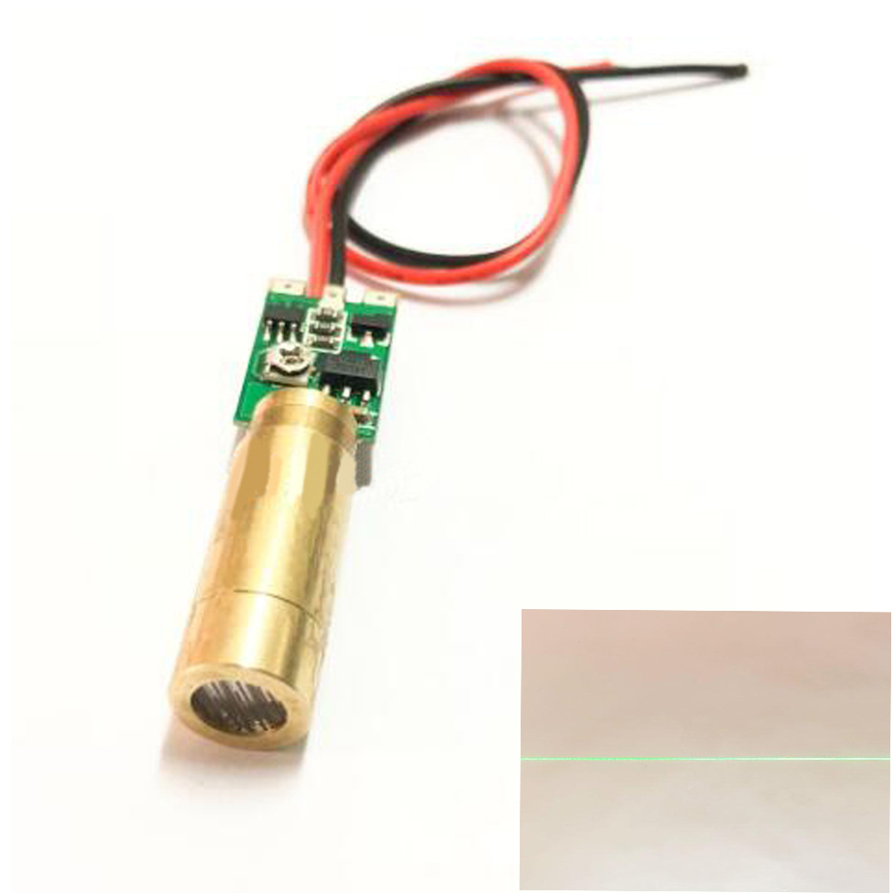 532nm 10mW 9mm Line Green Laser Diode Module High Brightness Marking