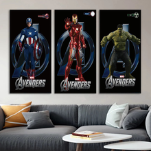Marvel Super Hero HD Movie Poster Canvas Painting Avengers Spiderman Captain America Art Wall Child Room Home Painting Bedroom