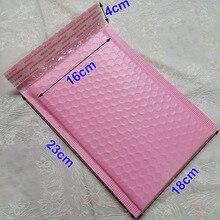 50個18 × 23センチメートルピンク、黒、白自己シールパッド入り郵送袋6.3X9inch/160X230MM使用可能なスペースポリバブルメーラー封筒