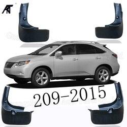 Czarny przód i tył błotnik błotnik klapy Splash Guard błotniki błotnik pokrywa tapicerka dla Lexus RX350 270 209-2015 mud Flap