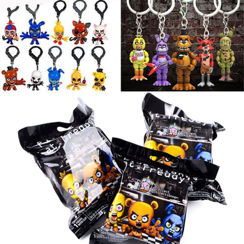 Five Night at Freddys Figures Bonnie Bear Game Action Figure PVC Doll Toys FNAF Foxy Chica Bonnie Doll Keychain Toys image