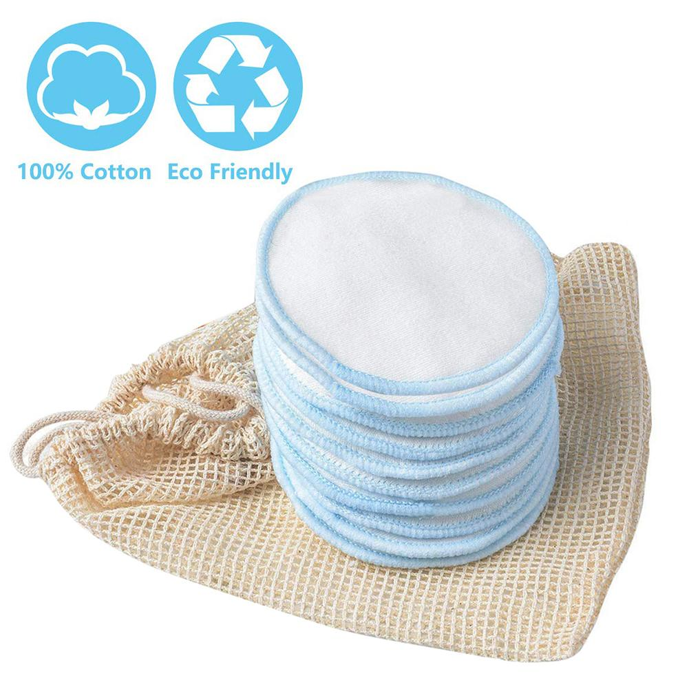Reusable Cotton Makeup Remover Pads Soft Bamboo Rounds With Laundry Bag For Cleansing Face Quick Delivery Durable Washable in Makeup Remover from Beauty Health