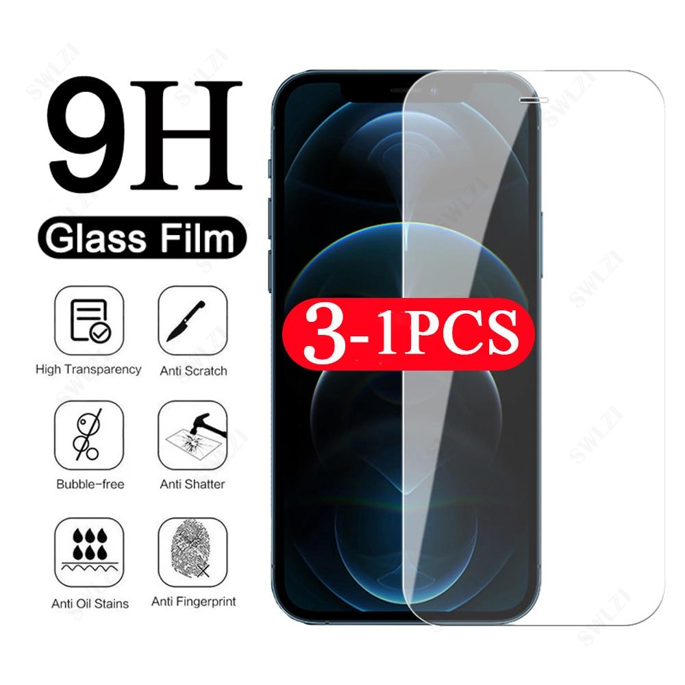 3/2/1Pcs per iphone X XR XS 11 Pro Max 12 Mini 8 7 6 6s Plus SE protezione dello schermo del telefono pellicola protettiva in vetro temperato smartphone