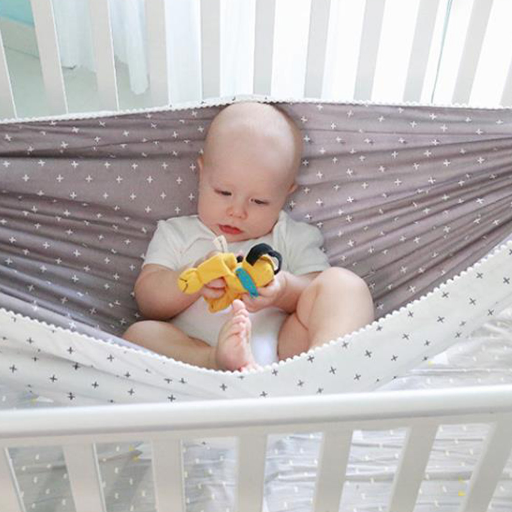 H831b0312ffbb495f9f201c22f6584900L Baby Cotton Hammock Swing for Crib Cot Removable Baby Rocking Chair Sleeping Bed Indoor Outdoor Adjustable Hanging Basket