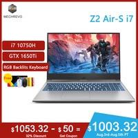 2020 new arrival MECHREVO Z2Air s gaming laptop i7 10750H Geforce Gtx 1650ti 1920*1080 ips RGB Backlit keyboard