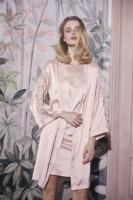 EASYSMALL Secret agent sexy Bathrobe Morning Gown Female Bride Summer Thin Silk Silk Pajamas Sexy Silk Satin Nightgown