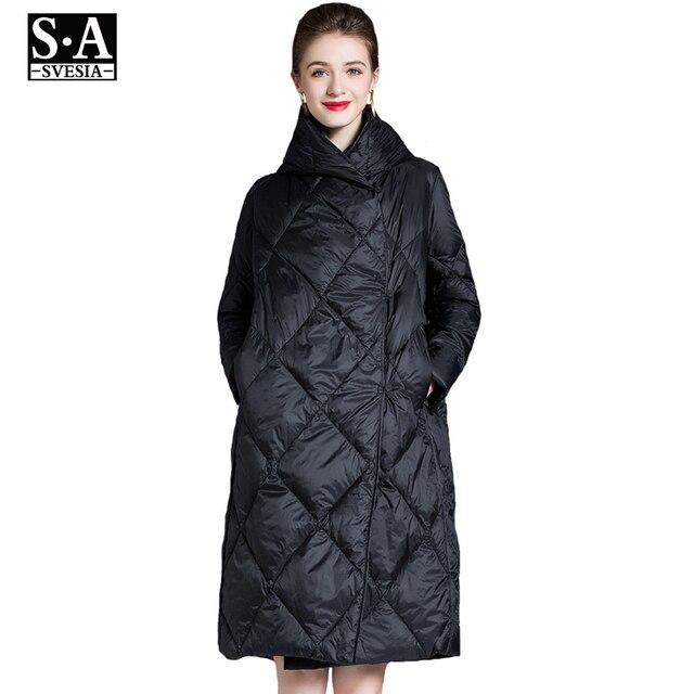 Blouson en duvet pour femme, blouson femme, doudoune légère, Ultra longue et chaude, Parka à capuche, vêtements d'hiver 2020 2