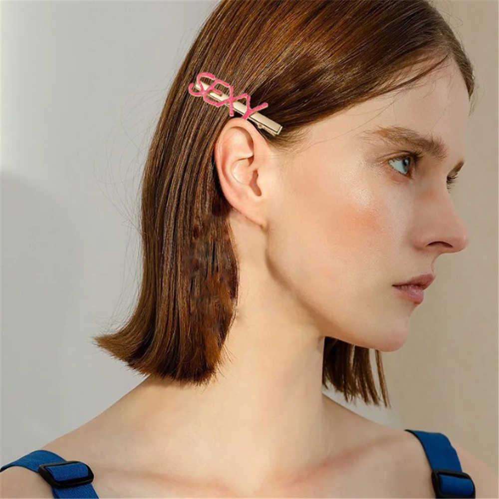 1PC Lette Besar Lebih Baik Darah Merah Muda Bebek Pearl Rambut Kait Pin untuk Wanita Klip Gadis Personalisasi Rambut Perhiasan Dekorasi alat