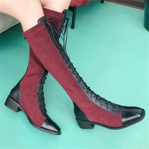 Image 4 - FEDONAS Kaliteli Karışık Renkler Hakiki Deri Kadın yarım çizmeler Klasik Yuvarlak Ayak Chelsea Çizmeler Yüksek Ayakkabı Kadın kısa çizmeler
