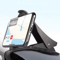 범용 대시 보드 자동차 전화 홀더 쉬운 클립 마운트 스탠드 GPS 디스플레이 브래킷 자동차 홀더 지원 전화, 1 개