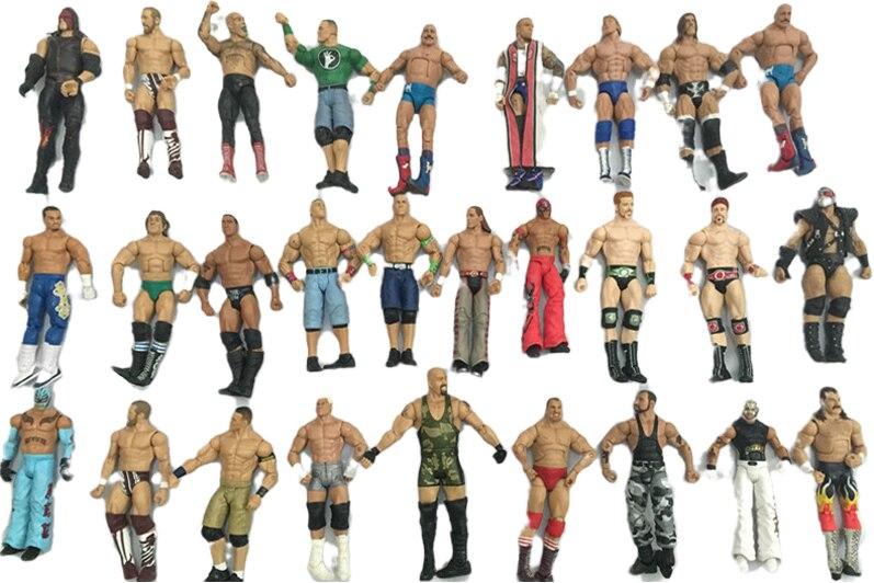 wwe 3pcs/Lot different characters occupation wrestling gladiators wrestler action figure toy Randomly Sending