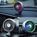 Car Back Seat Fan Portable Air Cooling Fan Car Vent Clip 3 Gears Wind Speed Gradient Color Auto Desktop Fan Usb Atmosphere Light