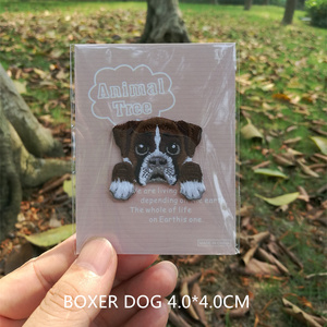 1 PIC T-shirt Sweater Book Cute Dog Embroidery Patch Cloth Sticking Back Adhesive Cloth Sticking Small Children Outerwear