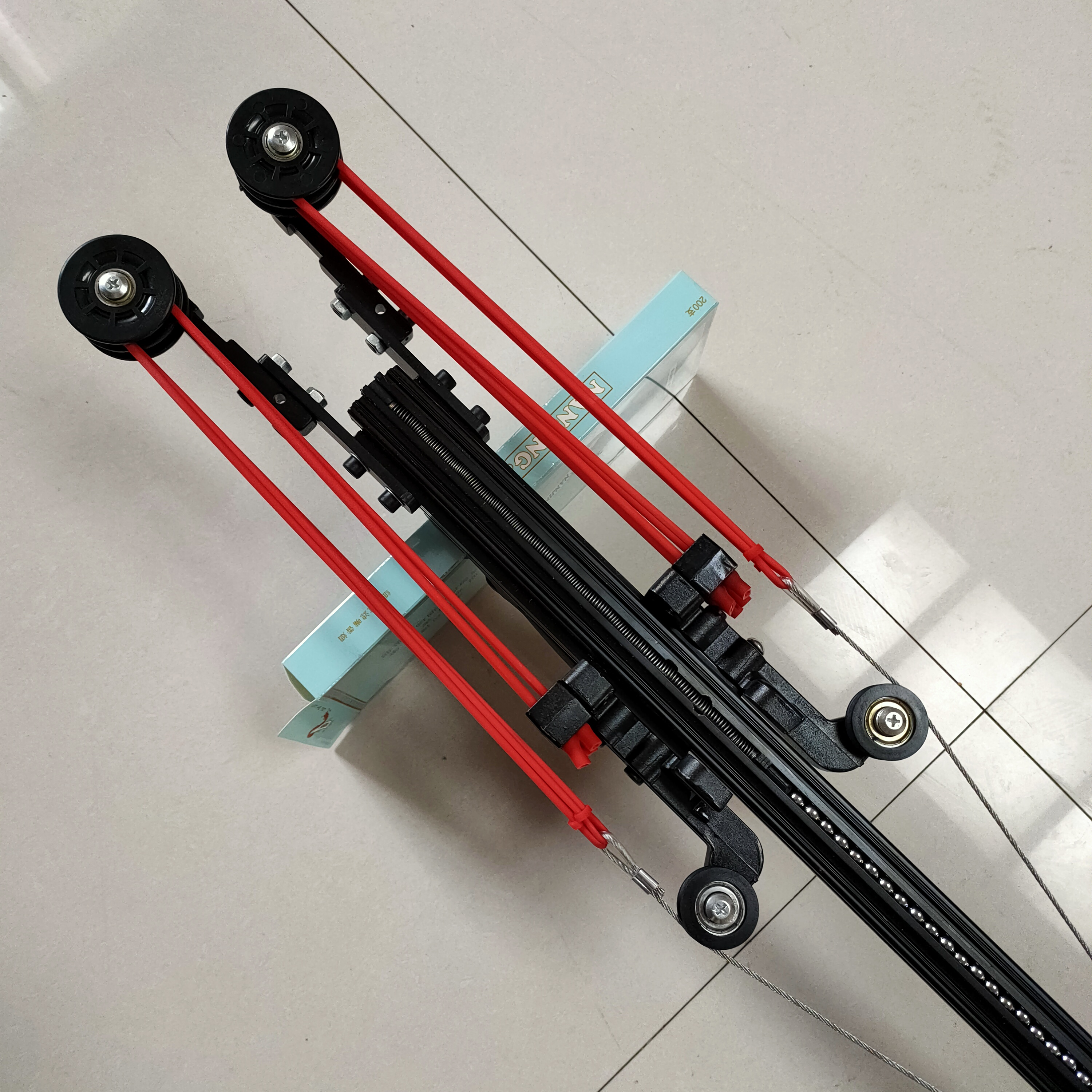 powerful Tenth Version Semi automatic 40BB Slingshot Rifle SlingBow Draw Force Rubber Band Ammo Arrow ball Basic version