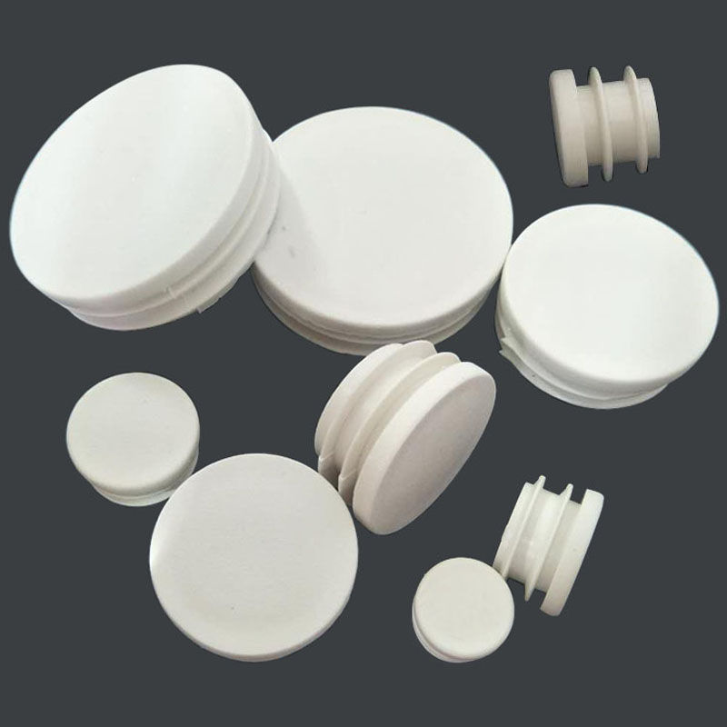 20pcs/lot White Plastic Blanking End Caps Round Pipe Tube Cap Insert Plugs Bung For Furniture Tables Chairs Protector