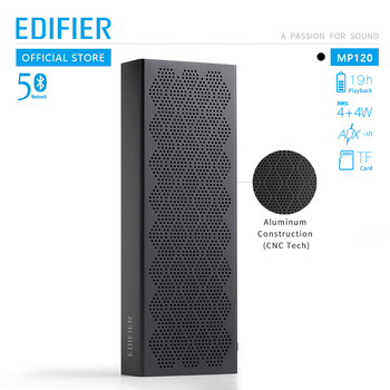 EDIFIER MP120 bluetooth speaker bluetooth 5.0 Support TF Card AUX Input CNC Technology Dual full range speakers
