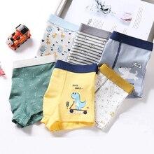 Print Boxers Panties Shorts Boys Underwear Teenage Cotton Children Cartoon for Big Summer