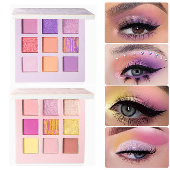 Pearl Shimmer Matte Eyeshadow Palette 9 Colors Purple Pink Mermaid Glitter Eye Shadow Makeup Pallete Pigment Matte Eyeshadow 1
