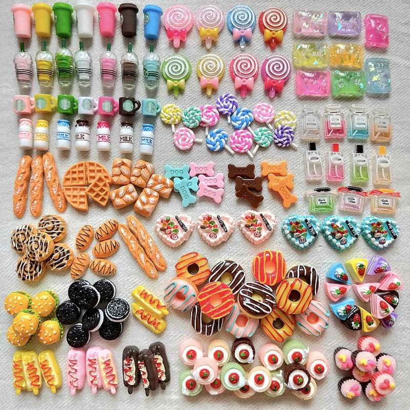 Случайные 6 шт. LPS маленькие аксессуары для домашних животных, еда, напитки, хлебобулочные конфеты, торт для милой кошки, колли, немецкий дог, ...
