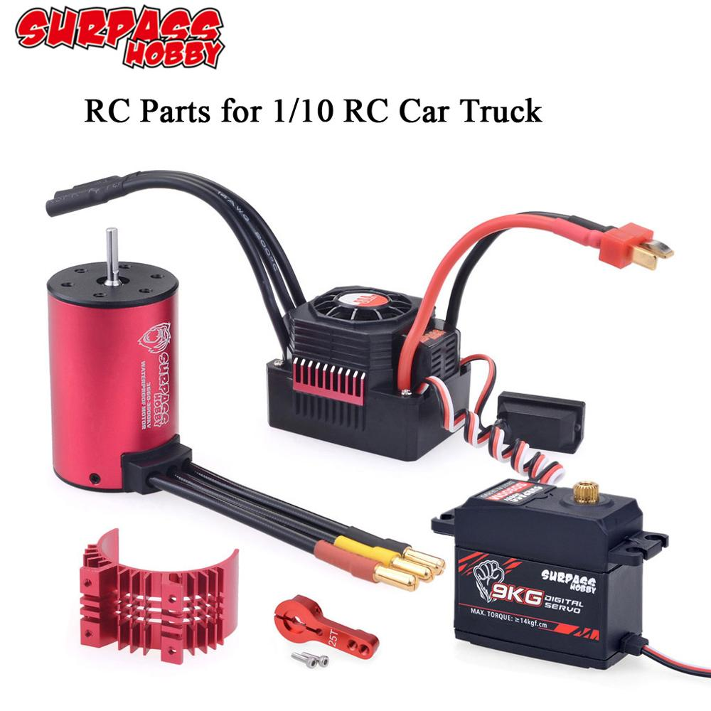 Surpass KK 3660 Waterproof Motor//shaft 5MM 60//80A ESC+Heat Sink for 1//8 RC car