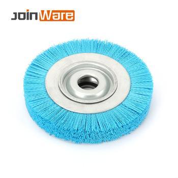 200mm Nylon Wheel Brush Abrasive Wire Woodwork Polishing Brush Bench Grinder for Wood Furniture Metal 200X32X30mm 1Pc
