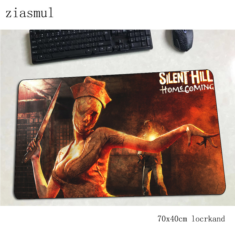 silent hill mouse pad Mass pattern Computer mat 70x40cm gaming mousepad large home padmouse keyboard games pc gamer desk image