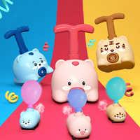 Coche de juguete inercial con globos para niños y niñas, juguete educativo con lanzador divertido, experimento de ciencia, regalo de Navidad, 1 Uds.