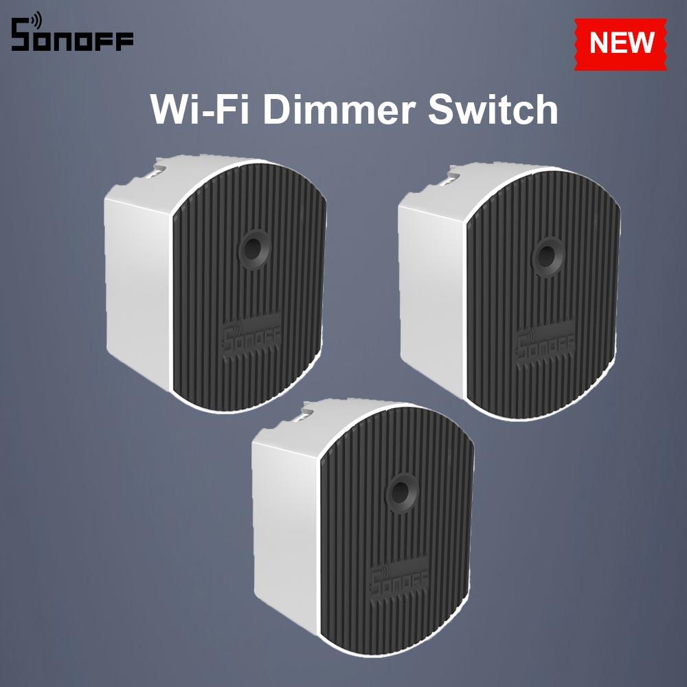 3/5/10 pces sonoff d1 diy wifi interruptor inteligente dimmer interruptor de luz 433 mhz rf controlado via ewelink app google casa alexa