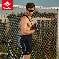 Nowy Santic czarny strój rowerowy spodenki wysokiej jakości włochy pad spodenki na szelkach dla 7 8 godzin rider najlepsza jakość Rowerowe spodenki z szelkami    -