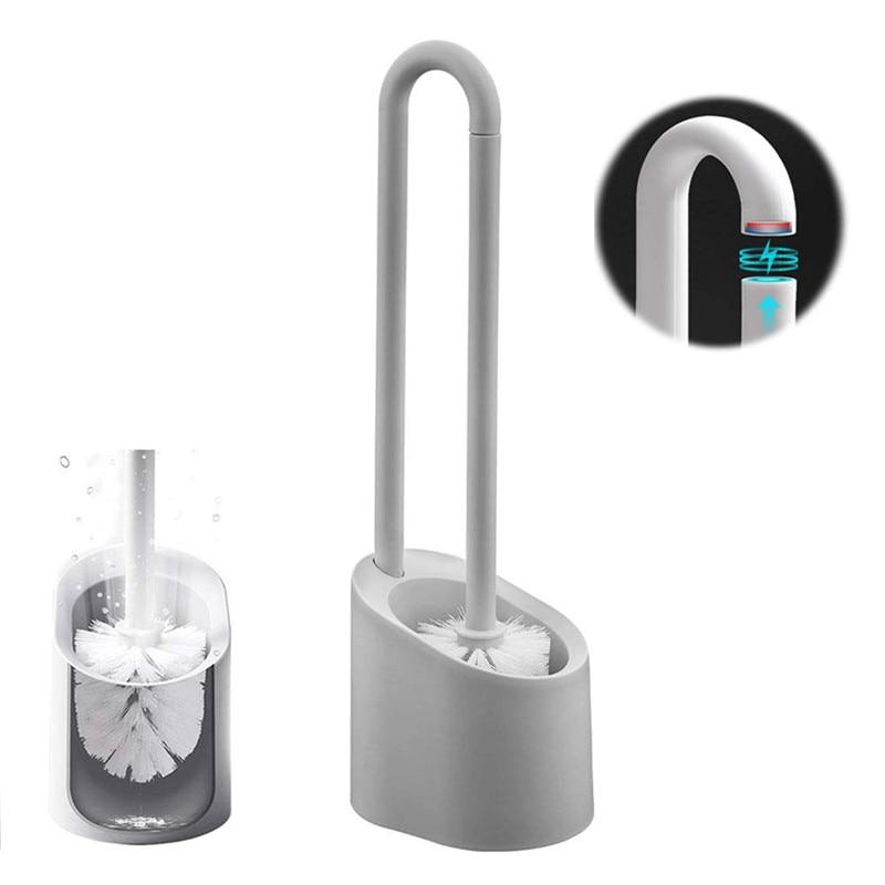 Bathroom Cleaning Brush Plastic Bathroom Accessories Set Home Long Handle Magnetic Toliet Brush