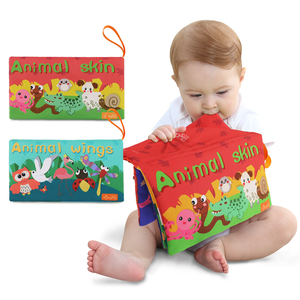 Newborn Baby Cloth Books Quiet Book For Kids Learning Educational Kids Cloth Books Ratteles Toy 0-12 Month