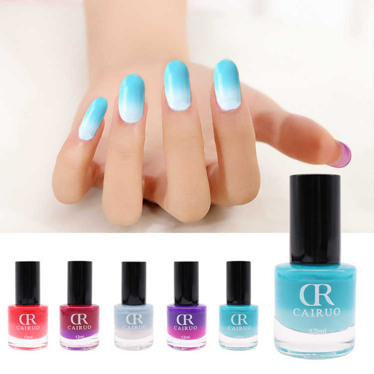 26 Suhu Warna Warna Berubah Kuku Gel Polish Rendam Off Uv Gel Manicure Tahan Lama Nail Art Gel Varnish pernis Dekorasi