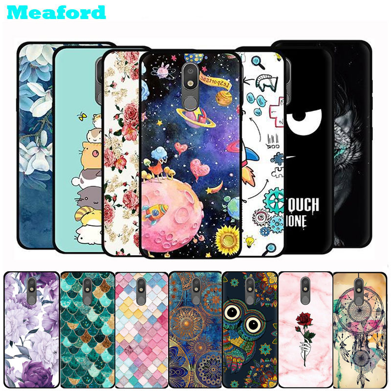 For Lg K30 2019 Case Cartoon Print Black Soft Tpu Silicone Case For Lg K30 2019 Cover Lmx320qmg Phone Cases Aristo 4 Plus Fundas Fitted Cases Aliexpress