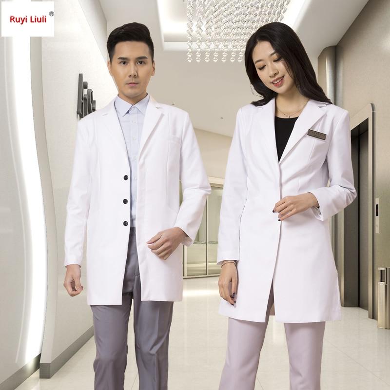 Fashion Hospital Nurse Clothing Custom Logo Long-sleeve Beauty Servic Uniform Wrinkle-free Workwear Nurse Uniform-Ruyi Liuli