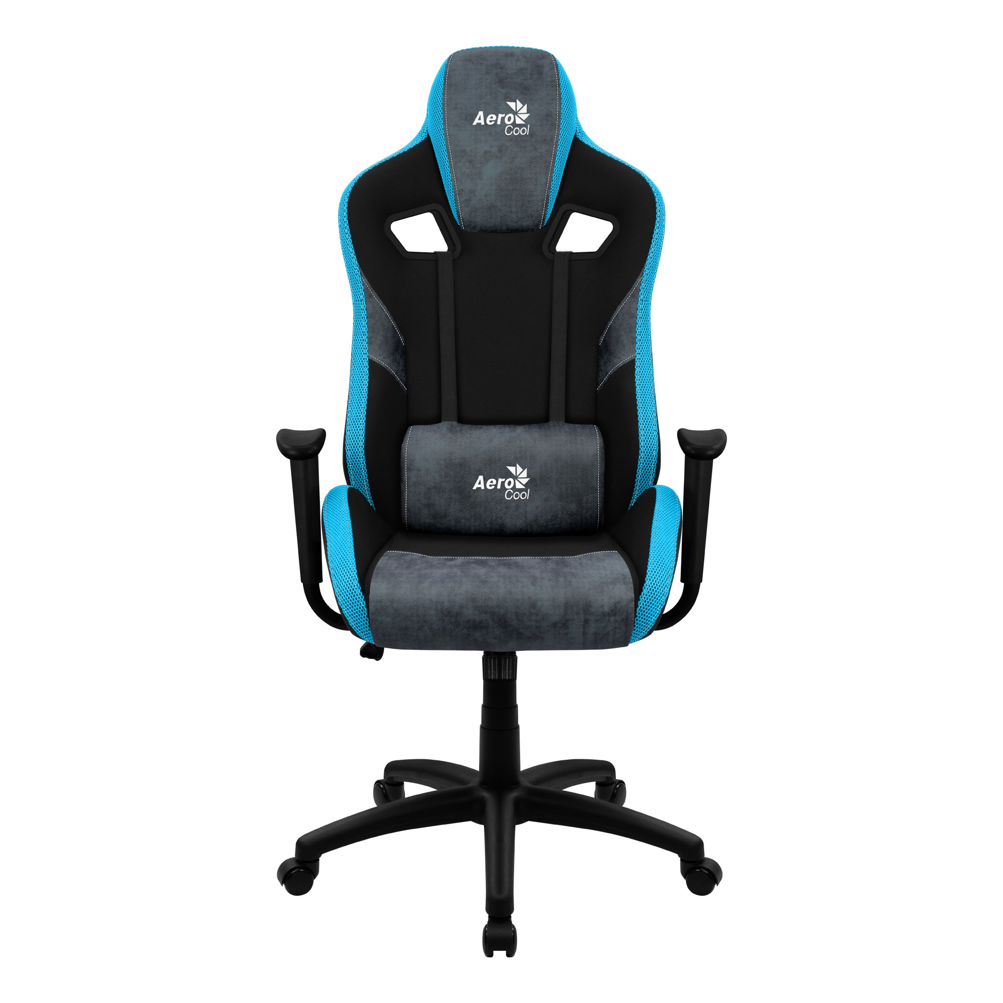 Aerocool COUNT, Gaming Chair, AeroSuede Breathable, Backstop Adjustable, Blue
