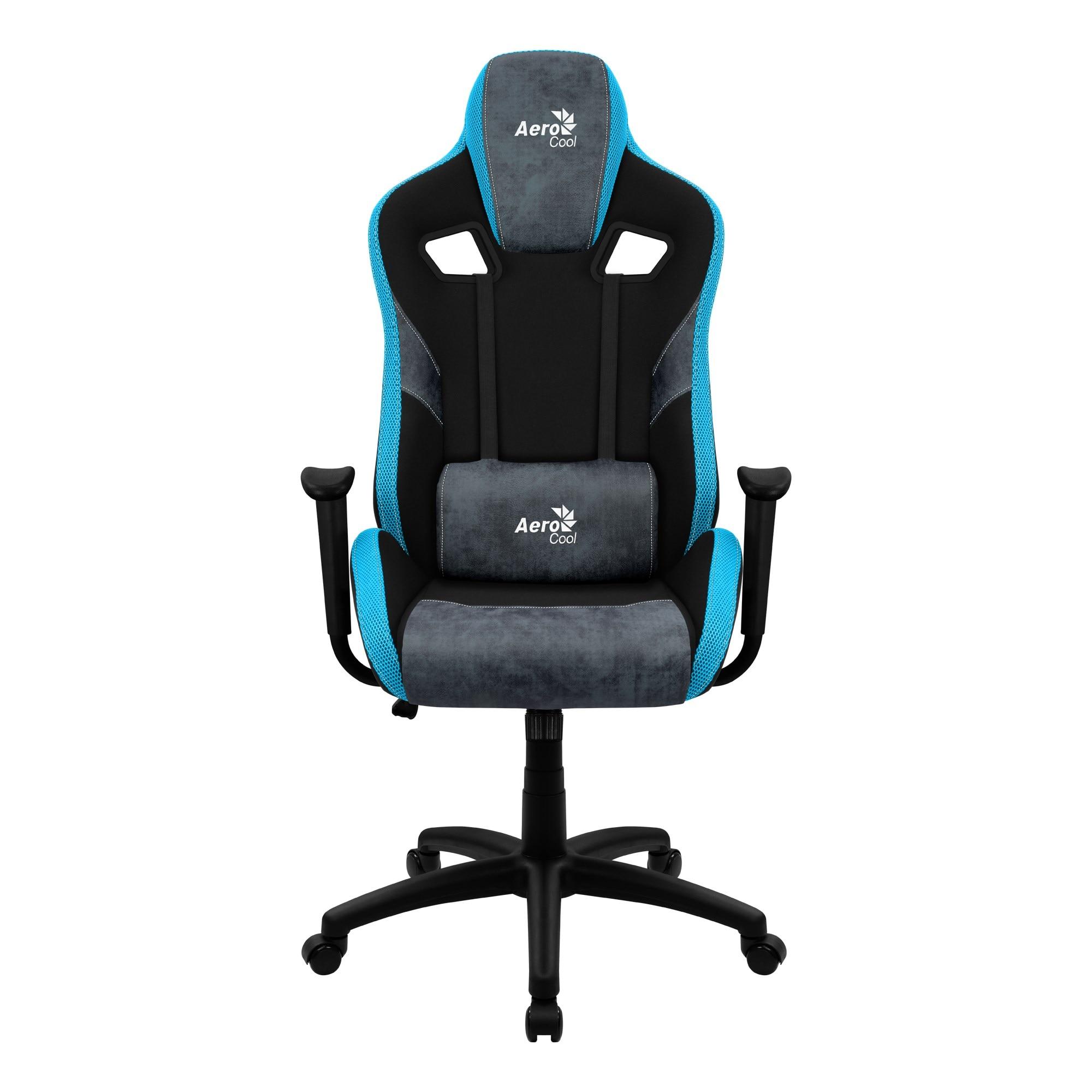 Aerocool COUNT, Gaming Chair, AeroSuede Breathable, Backstop Adjustable, Blue