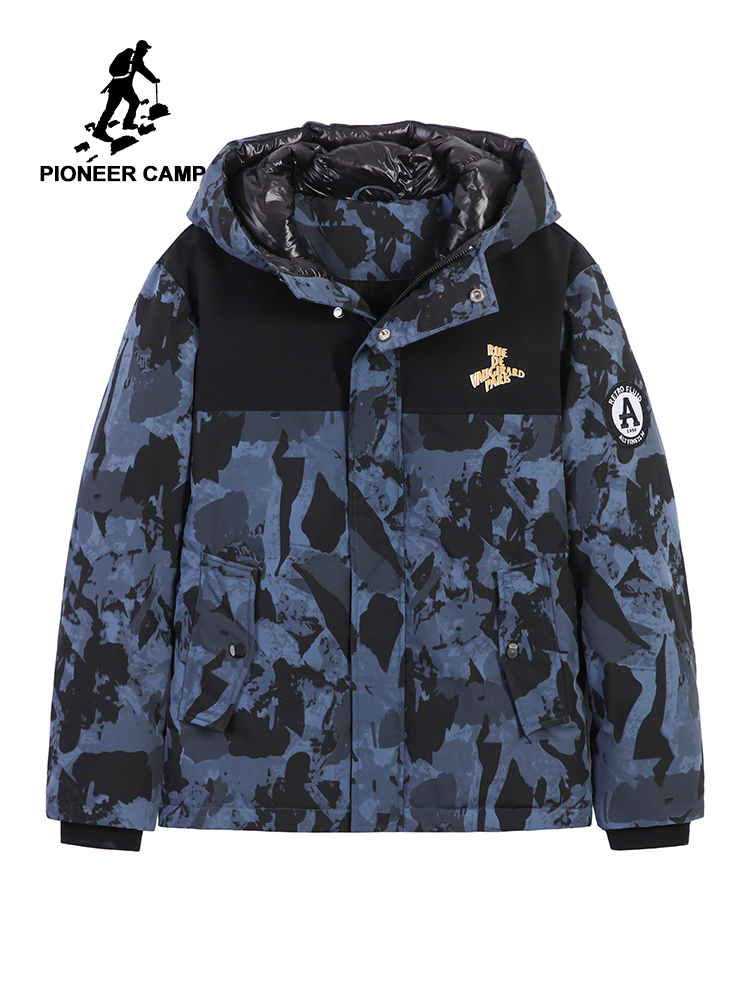 Pioneer Camp Duck Down Jacket Men Youth Winter Hooded Anorak Tactical Male Goose Camo Parkas For Canada Jacket AYR907402