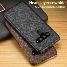 Leather Phone Case For LG V10 V20 V30 V30s V40 V50 Q6 Q7 Q8 G3 G4 G5 G6 G7 G8 G8X G8S ThinQ K40 Cases Cowhide Litchi Back Cover
