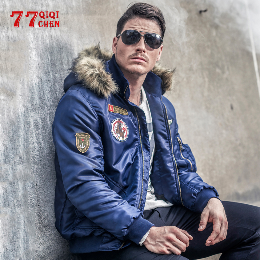 Thicken Winter Jacket Mens Military Thermal Bomber Parkas Men Autumn Casual Faux Fur Collar Parkas Hombre Invierno Plus Size 4XL