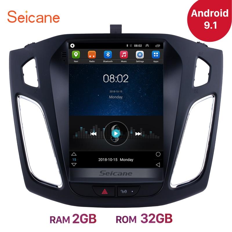 Seicane 9,7 дюймов Android 9,1 автомобильный стерео радио головное устройство GPS Navi для Ford Focus 2012 2013 2014 2015 поддержка OBD2 камера заднего вида