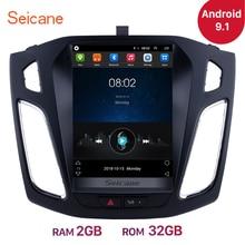 Seicane unidade de rádio estéreo automotivo, 9.7 polegadas, android 9.1, gps, navi, para ford focus 2012 2013 2014 2015, suporte obd2 câmera de retrovisor